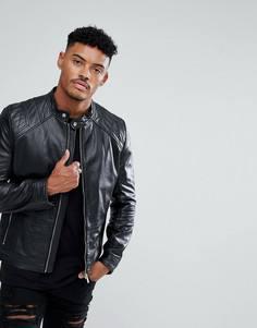 Черная байкерская куртка HUGO - Черный