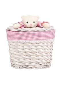 Корзина Natural House «Медвежонок розовый» ива S