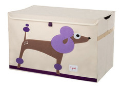 Корзина для игрушек 3 Sprouts Purple Poodle SPR902