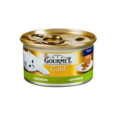 Корм Gourmet Gold Кролик Паштет 85g для кошек 44749