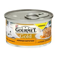 Корм Gourmet Gold Нежные Биточки Курица Морковь 85g для кошек 61281