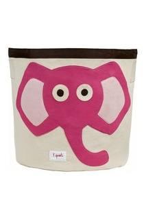 Корзина с розовым слоном 3 Sprouts