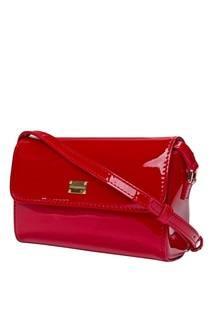 Красная лакированная сумка Dolce&Gabbana Children