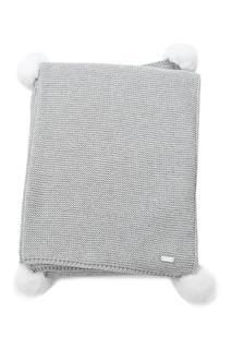 Плед из шерсти и кашемира серый Miacompany
