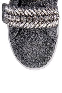 Серебристые кеды с кристаллами Suecomma Bonnie