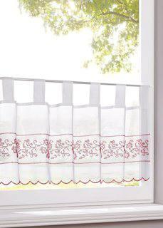 Японская штора Кеа (белый/красный) Bonprix