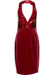 Велюровое платье (маджента) Bonprix