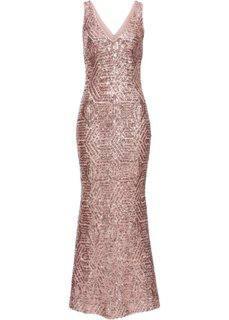 Платье с пайетками (розовый кварц) Bonprix