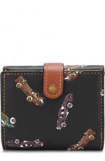 Кожаное портмоне с принтом Coach