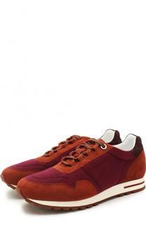 Замшевые кроссовки с отделкой из кашемира Loro Piana