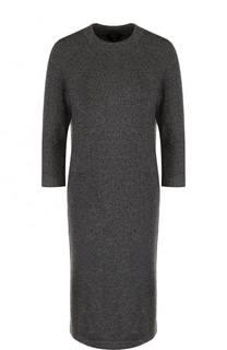 Шерстяное мини-платье с укороченным рукавом Escada