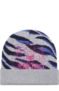 Шапка с принтом и вышивкой Kenzo