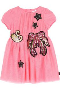 Мини-платье с аппликациями и пайетками Marc Jacobs