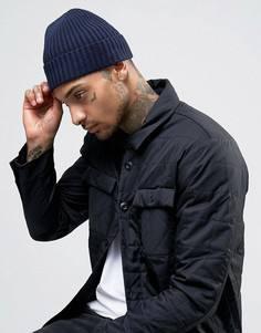 Вязаная шапка-бини Minimum - Темно-синий