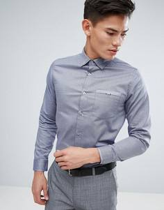 Узкая строгая рубашка Ted Baker - Синий