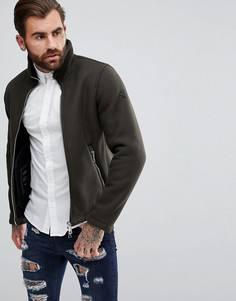 Зеленая куртка с добавлением шерсти и молнией Armani Jeans - Зеленый