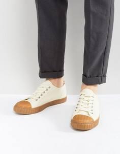Белые парусиновые кеды на шнуровке с резиновой подошвой ASOS - Белый