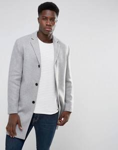 Пальто с добавлением шерсти Selected Homme - Серый