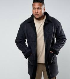 Черная куртка на подкладке из искусственной цигейки Sixth June PLUS - Черный