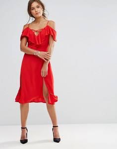 Платье с разрезом Lunik - Красный