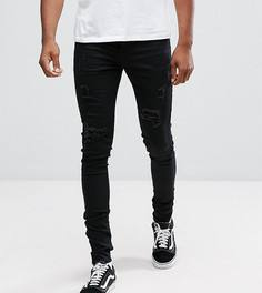 Черные рваные супероблегающие джинсы Sixth June TALL - Черный