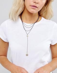 Ярусное ожерелье-чокер Liars & Lovers Delicate Star - Золотой