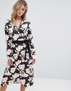 Платье с запахом и цветочным принтом Liquorish - Мульти