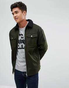 Куртка с подкладкой из искуcственного меха Jack & Jones Core - Зеленый
