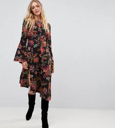Платье миди с цветочным принтом и асимметричным подолом Vero Moda Tall - Мульти