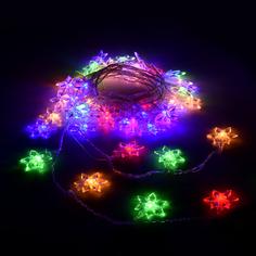 Гирлянда Vegas Цветочки 80 светодиодов 10m Mix 55084