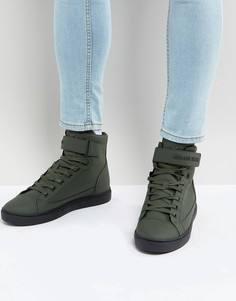 Высокие кроссовки цвета хаки Armani Jeans - Зеленый