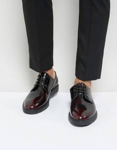 Бордовые блестящие туфли на шнуровке Silver Street - Красный