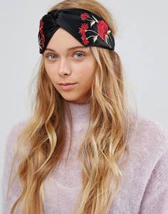 Повязка на голову с цветочной вышивкой ALDO - Черный