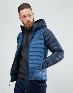 2-цветная легкая пуховая куртка с капюшоном The North Face Trevail - Синий