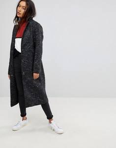 Oversize-пальто из фактурной ткани ASOS - Мульти