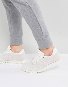 Белые замшевые кроссовки New Balance 520 U520BD - Белый