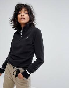 Черный пуловер с воротником на молнии The North Face - Черный