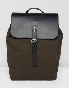 Серый рюкзак из кожи и парусины Sandqvist Alva - Серый