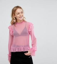 Блузка с оборками Monki - Розовый