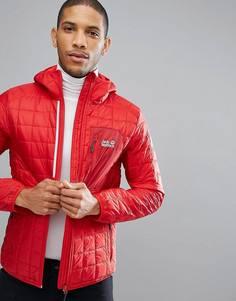 Красная стеганая куртка Jack Wolfskin Andean Peaks - Красный