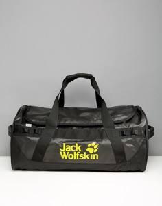 Черная сумка дафл с логотипом Jack Wolfskin Expedition - Черный