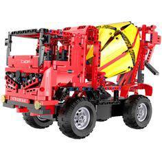 Радиоуправляемая модель-конструктор ИНТЕРАКТИВНАЯ ИГРА ДЛЯ DVD-ПРОИГРЫВАТЕЛЯ Mixer Truck (C51014W) CaDa