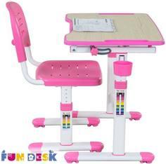 Комплект мебели FunDesk «Piccolino II» стол 66х47 см и стул розовый