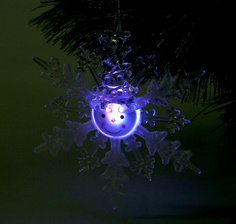 Новогодний сувенир Luazon Снежинка снеговик White 1077318