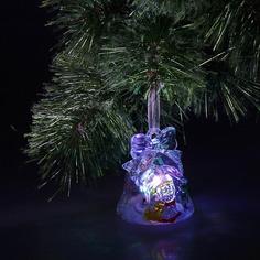 Новогодний сувенир Luazon Колокольчик и Дед Мороз 602894