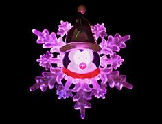 Новогодний сувенир SnowHouse Снежинка с присоской SNF-SC-03