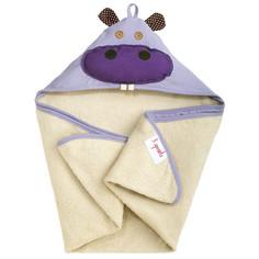 Полотенце с капюшоном 3 Sprouts Purple Hippo SPR103