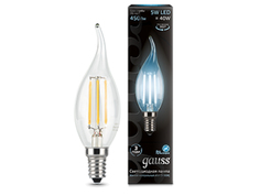 Лампочка Gauss LED Filament Candle Tailed Dimmable E14 5W 4100K 104801205-D
