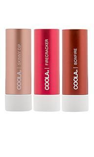 Набор солнцезащитных тинтов для губ mineral liplux - COOLA