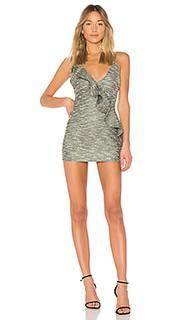 Твидовое мини-платье с воланом ella - Lovers + Friends
